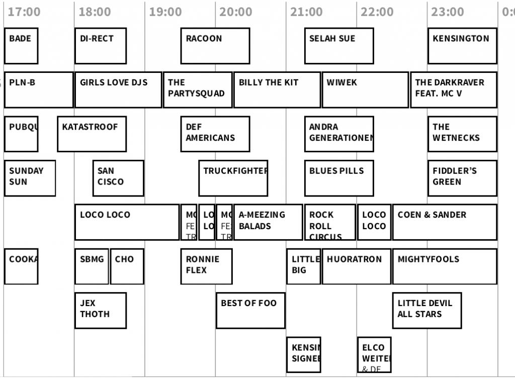 timetable paaspop