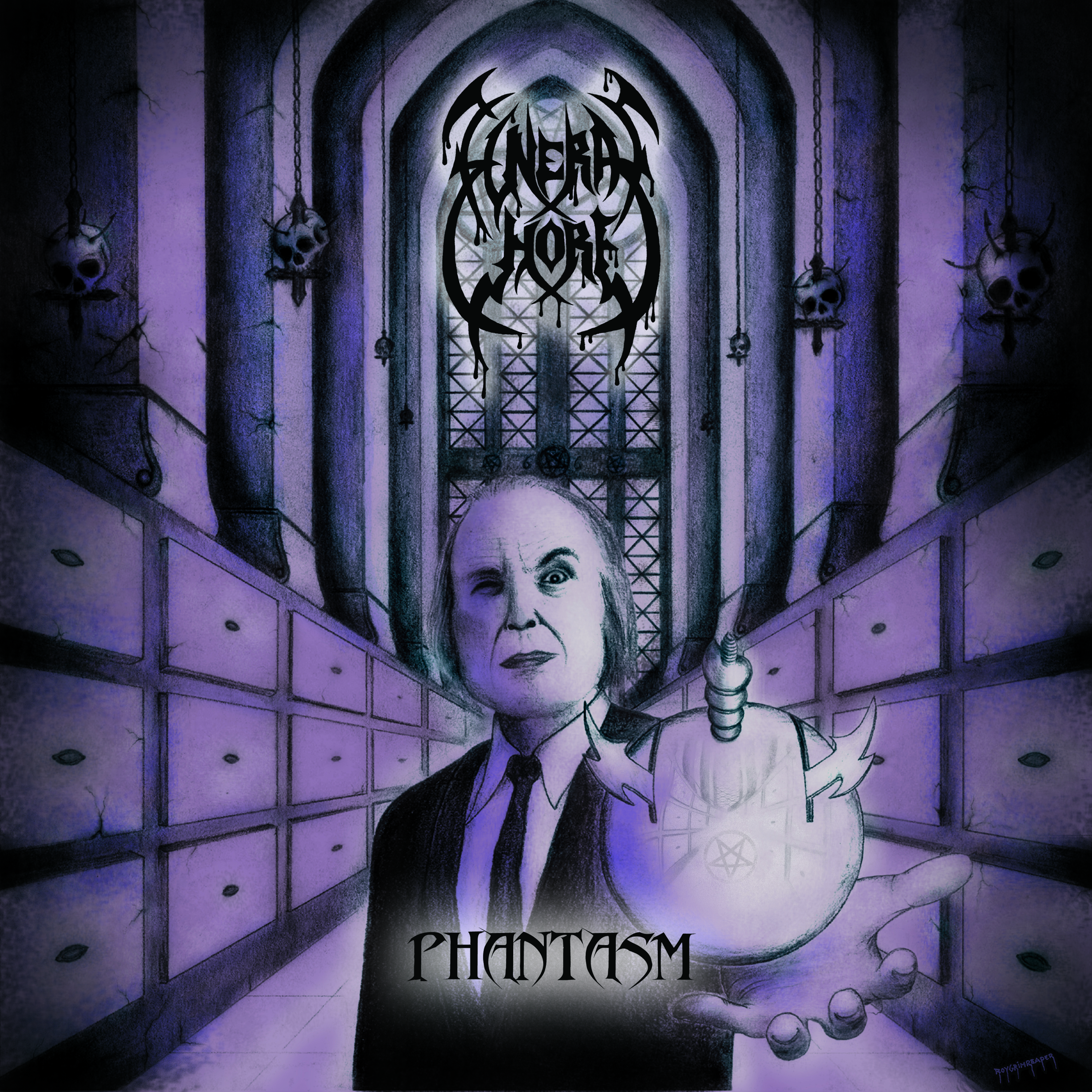 Funeral Whore Phantasm Cover PRINT